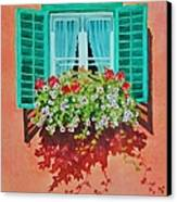 Kitzbuhel Window Canvas Print