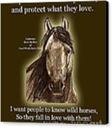 Know Wild Horses Poster-huricane Canvas Print by Linda L Martin