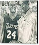 Kobe Bryant Canvas Print by Kobe Carter