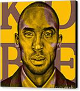 Kobe Bryant Lakers' Gold Canvas Print by Rabab Ali