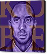 Kobe Bryant Lakers' Purple Canvas Print by Rabab Ali