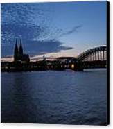 Koln Rhine Canvas Print by David  Hawkins