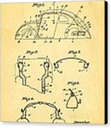 Komenda Vw Beetle Body Design Patent Art 1945 Canvas Print by Ian Monk