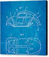 Komenda Vw Beetle Official German Design Patent Art Blueprint Canvas Print by Ian Monk