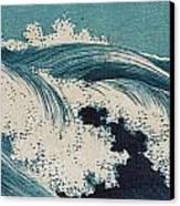 Konen Uehara Waves Canvas Print by Georgia Fowler