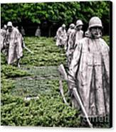 Korean War Veterans Memorial Canvas Print by Olivier Le Queinec
