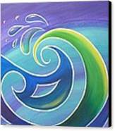 Koru Surf Canvas Print by Reina Cottier
