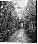 Koto-in Temple Stone Path Canvas Print
