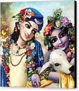 krishna-Balarama Canvas Print by Lila Shravani