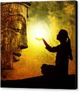 Krishna Devotion Canvas Print