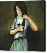 Kristina At 18 Canvas Print by Cecilia Brendel