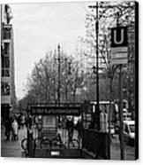 Kufurstendamm U-bahn Station Entrance Berlin Germany Canvas Print