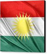 Kurdistan Flag Canvas Print