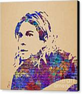 Kurt Cobain Watercolor Canvas Print