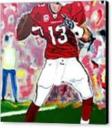 Kurt Warner-in The Zone Canvas Print by Bill Manson