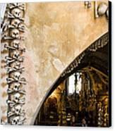 Kutna Hora Bone Church Canvas Print by Joanna Madloch
