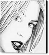 Kylie Minogue Portrait Canvas Print