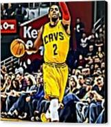 Kyrie Irving Canvas Print by Florian Rodarte