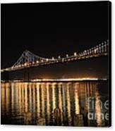 L E D Lights On The Bay Bridge Canvas Print