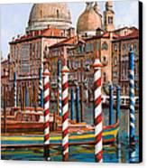 La Chiesa Della Salute Sul Canal Grande Canvas Print by Guido Borelli