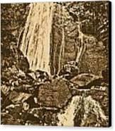 La Coca Falls El Yunque National Rainforest Puerto Rico Prints Rustic Canvas Print
