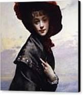 La Coquette Canvas Print by Gustave Jean Jacquet