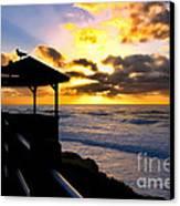 La Jolla At Sunset By Diana Sainz Canvas Print by Diana Sainz