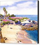 La Jolla Cove Canvas Print by Mary Helmreich