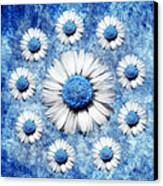 La Ronde Des Marguerites - Blue V05 Canvas Print by Variance Collections