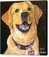 Lab Adorable Canvas Print by Susan A Becker
