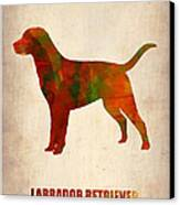 Labrador Retriever Poster Canvas Print by Naxart Studio