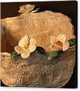 Lace Bowl Sculpture Canvas Print by Debbie Limoli