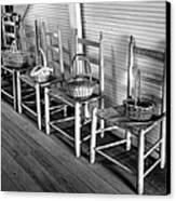 Ladder Back Chairs And Baskets Canvas Print by Lynn Palmer
