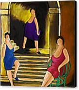 Ladies Of The Night Canvas Print by William Cain