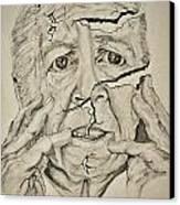Lady Falling Apart Canvas Print by Glenn Calloway