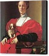 Lady In A Red Dress Canvas Print by Jacopo Pontormo