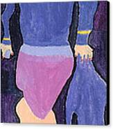 Lady In Blue Canvas Print