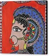 Lady In Ornaments Canvas Print by Shakhenabat Kasana