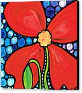 Lady In Red 2 - Buy Poppy Prints Online Canvas Print by Sharon Cummings