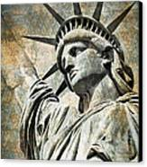 Lady Liberty Vintage Canvas Print by Delphimages Photo Creations