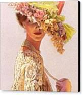 Lady Victoria Victorian Elegance Canvas Print by Sue Halstenberg