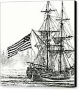 Lady Washington At Friendly Cove Canvas Print by James Williamson