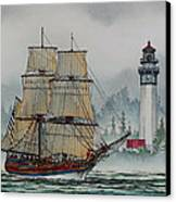 Lady Washington At Grays Harbor Canvas Print by James Williamson