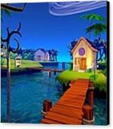 Lagoon Canvas Print by Cynthia Decker