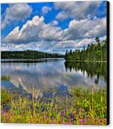 Lake Abanakee In Indian Lake New York Canvas Print by David Patterson