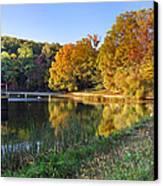 Lake At Chilhowee Canvas Print by Debra and Dave Vanderlaan