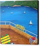 Lake Como Canvas Print by Pamela Allegretto