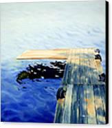 Lake Dock Canvas Print by Paula Marsh