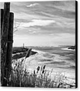 Lake Ice Bw Canvas Print by Peter Chilelli