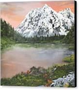 Lake In Austria Canvas Print by Jean Walker